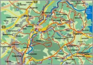 Wanderkarte Altenberg