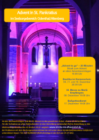 Plakat Advent in St. Pankratius Odenthal